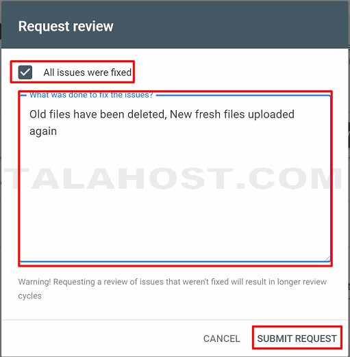request review submit
