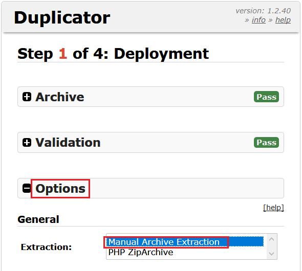نصب بسته نصبی duplicator